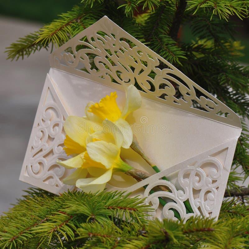 γάμος πρόσκλησης λουλ&omicron στοκ εικόνα