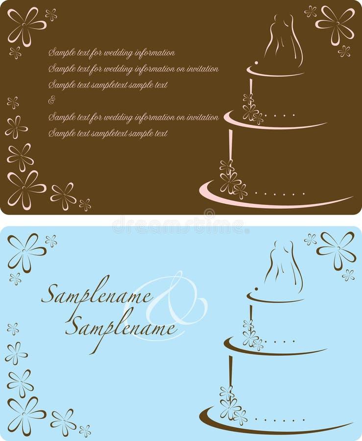 γάμος πρόσκλησης απεικόνιση αποθεμάτων