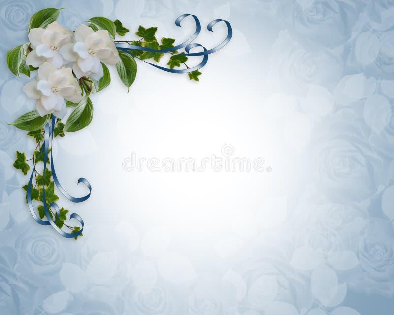 γάμος πρόσκλησης gardenias συνόρ&omega απεικόνιση αποθεμάτων