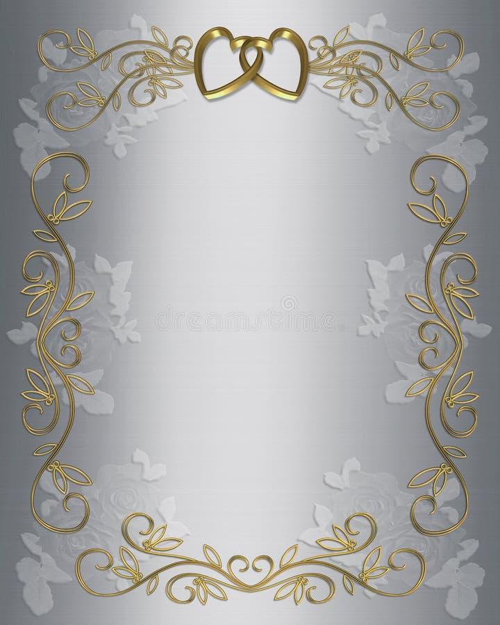 γάμος σατέν συμβαλλόμενων μερών πρόσκλησης διανυσματική απεικόνιση