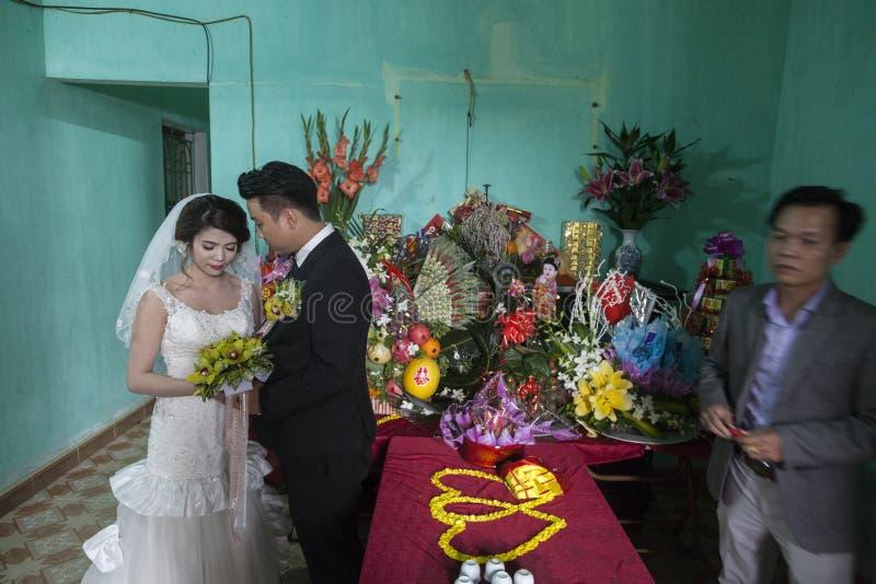 Γάμος στο χωριό κοντά στο Ανόι στοκ εικόνα με δικαίωμα ελεύθερης χρήσης