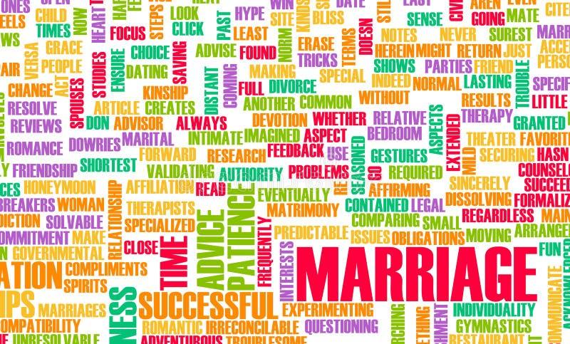 γάμος συμβουλών διανυσματική απεικόνιση