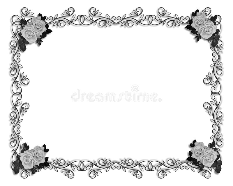 γάμος τριαντάφυλλων συμβαλλόμενων μερών πρόσκλησης απεικόνιση αποθεμάτων