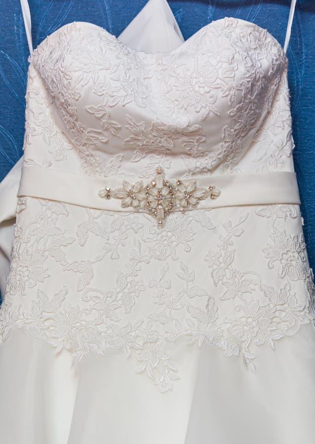 γάμος φορεμάτων λεπτομέρειας στοκ φωτογραφία με δικαίωμα ελεύθερης χρήσης