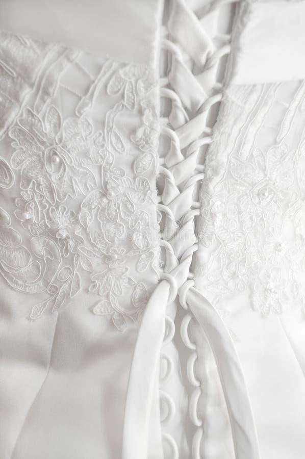 γάμος φορεμάτων λεπτομέρ&epsi στοκ φωτογραφία