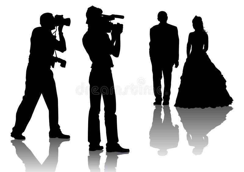 γάμος φωτογράφων ελεύθερη απεικόνιση δικαιώματος