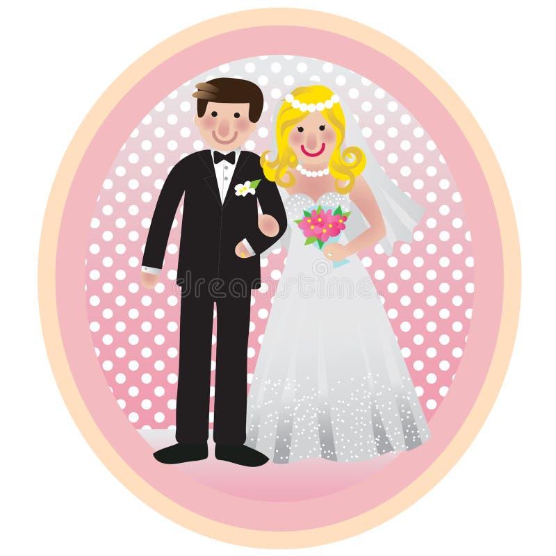 γάμος φωτογραφιών διανυσματική απεικόνιση