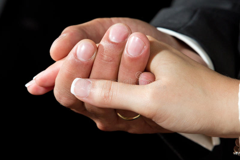 γάμος χεριών στοκ φωτογραφία