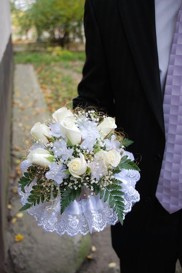 γάμος 2 ανθοδεσμών στοκ εικόνες