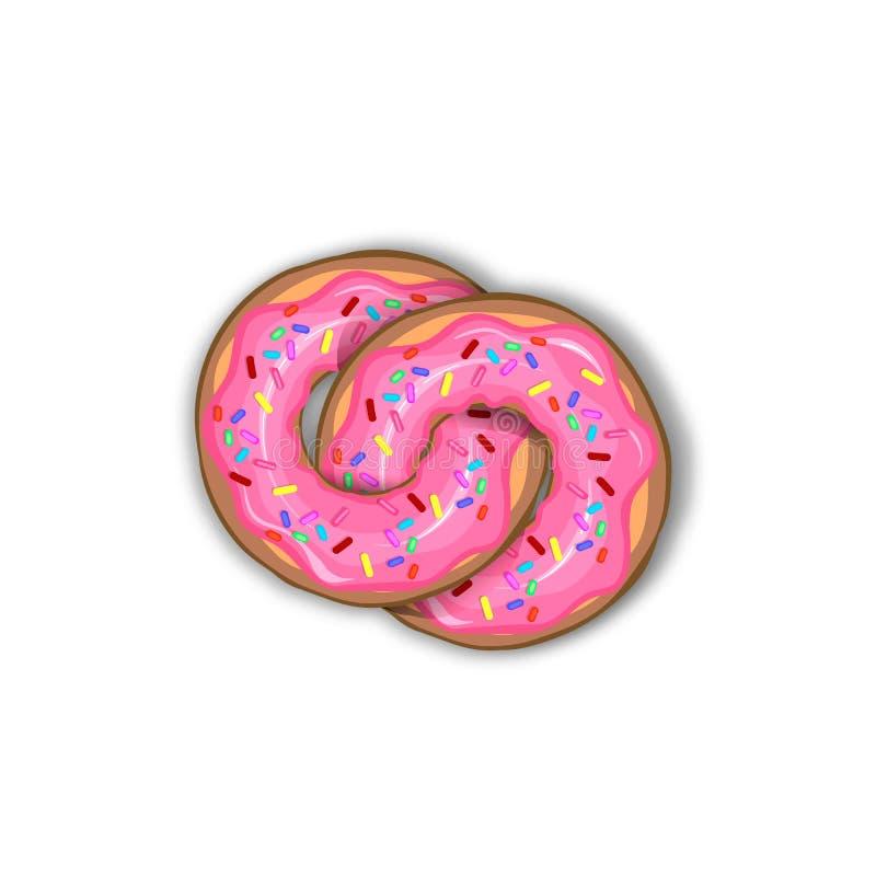 Γάμος donuts, εύγευστα donuts στο λούστρο και τη σοκολάτα στοκ φωτογραφίες με δικαίωμα ελεύθερης χρήσης