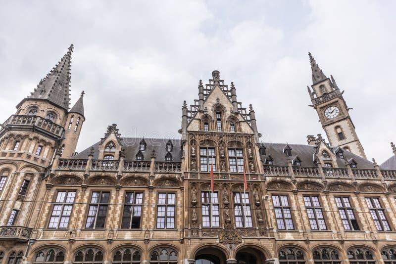 Γάνδη, Βέλγιο - 6 ΑΠΡΙΛΊΟΥ 2019: Άποψη του παλαιού ταχυδρομείου που χτίζει im Γάνδη στοκ φωτογραφία με δικαίωμα ελεύθερης χρήσης