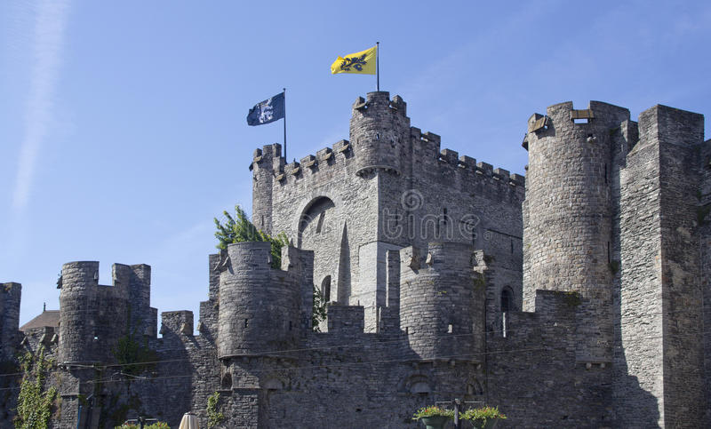 Γάνδη Castle, Βέλγιο στοκ φωτογραφίες