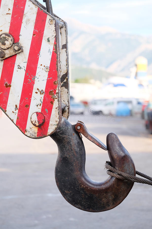 Γάντζος γερανών στοκ εικόνα με δικαίωμα ελεύθερης χρήσης