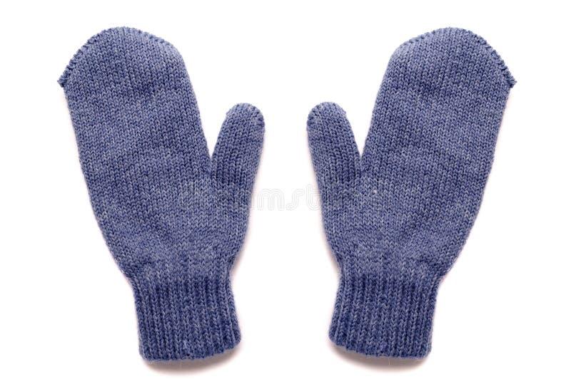 Γάντια, που απομονώνονται μπλε στοκ φωτογραφίες με δικαίωμα ελεύθερης χρήσης