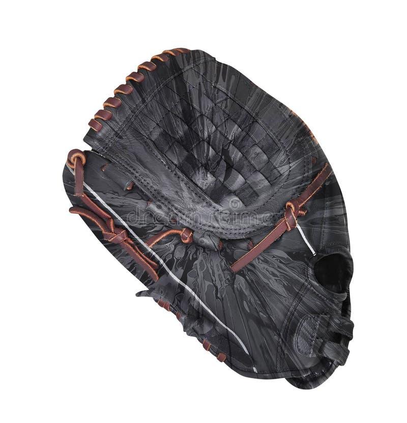 Γάντι μπέιζ-μπώλ ή σόφτμπολ δέρματος που απομονώνεται στοκ φωτογραφία