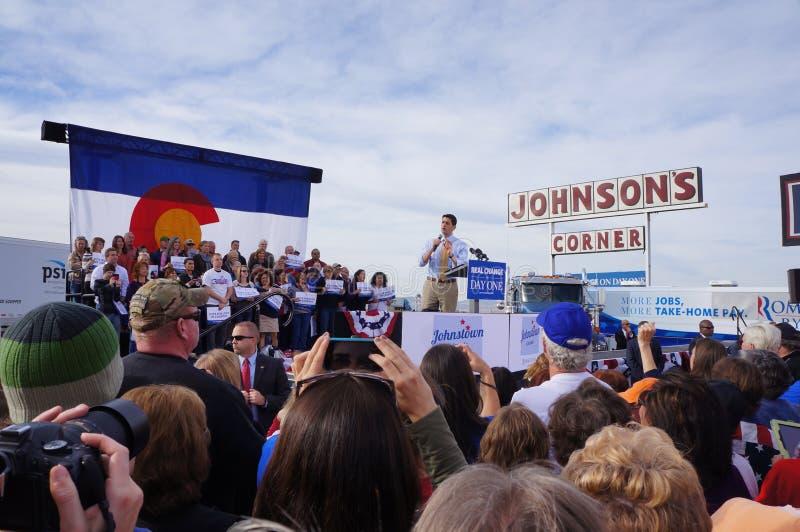 Γάντι πυγμαχίας Romney συνάθροισης του Paul Νταίηβις Ryan στοκ φωτογραφία με δικαίωμα ελεύθερης χρήσης