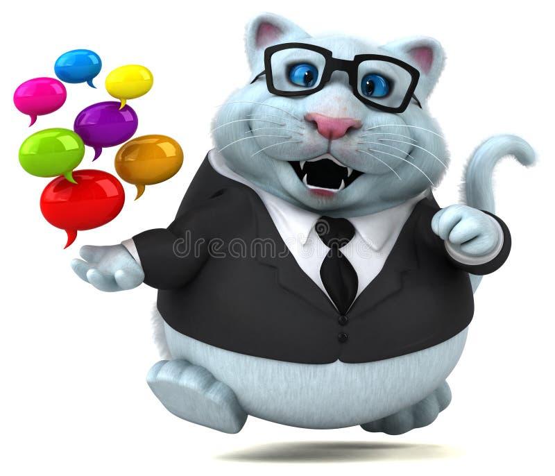 Γάτα διασκέδασης - τρισδιάστατη απεικόνιση ελεύθερη απεικόνιση δικαιώματος