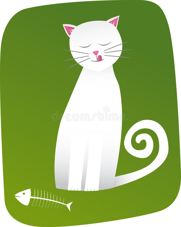 γάτα ιδιόρρυθμη διανυσματική απεικόνιση
