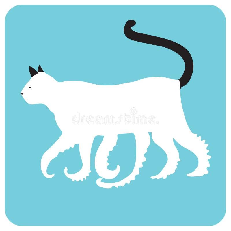 Γάτα καλαμαριών στοκ φωτογραφίες με δικαίωμα ελεύθερης χρήσης