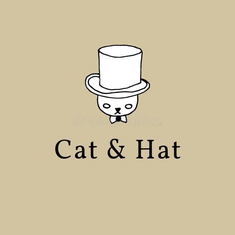 Γάτα σε ένα καπέλο αποκλειστικό ελεύθερη απεικόνιση δικαιώματος