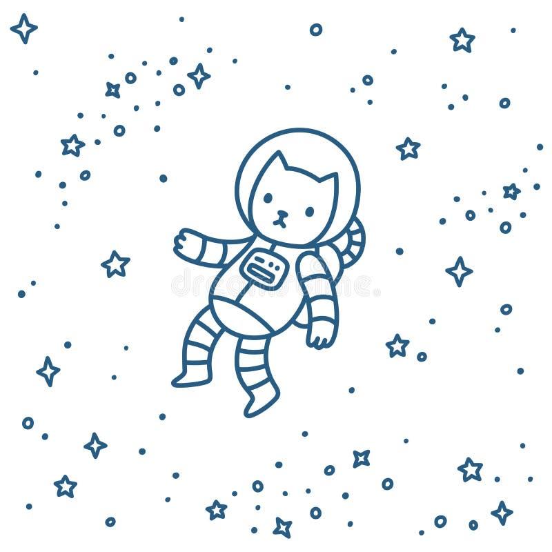 Γάτα στο διάστημα απεικόνιση αποθεμάτων