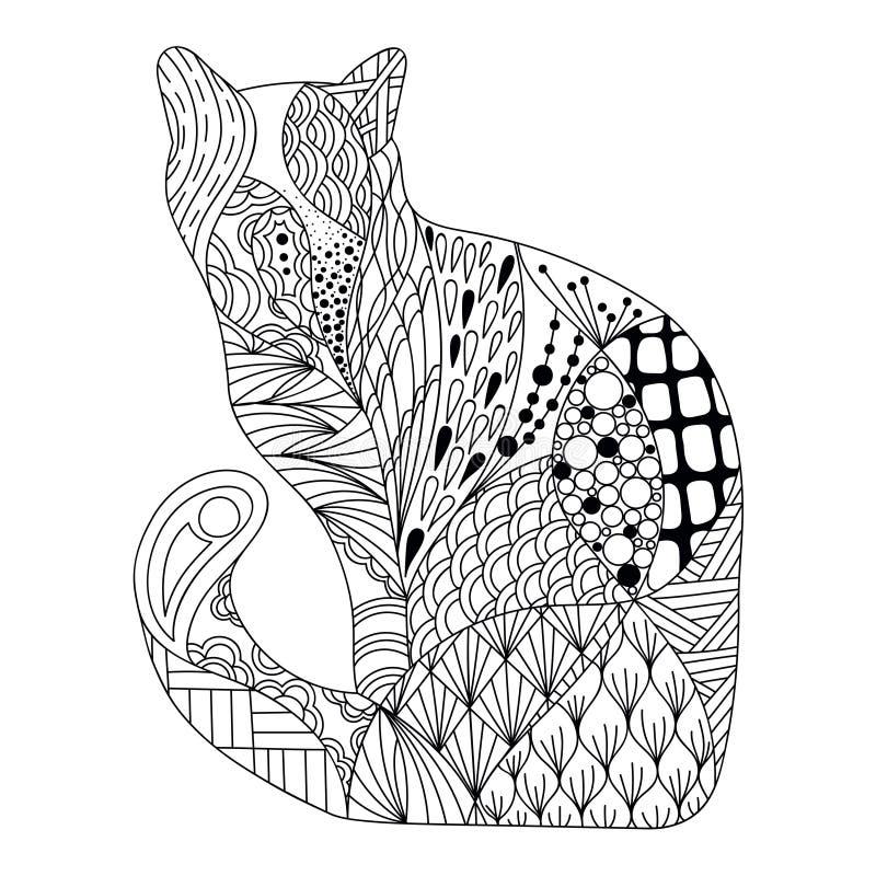 Γάτα τέχνης της Zen απεικόνιση αποθεμάτων