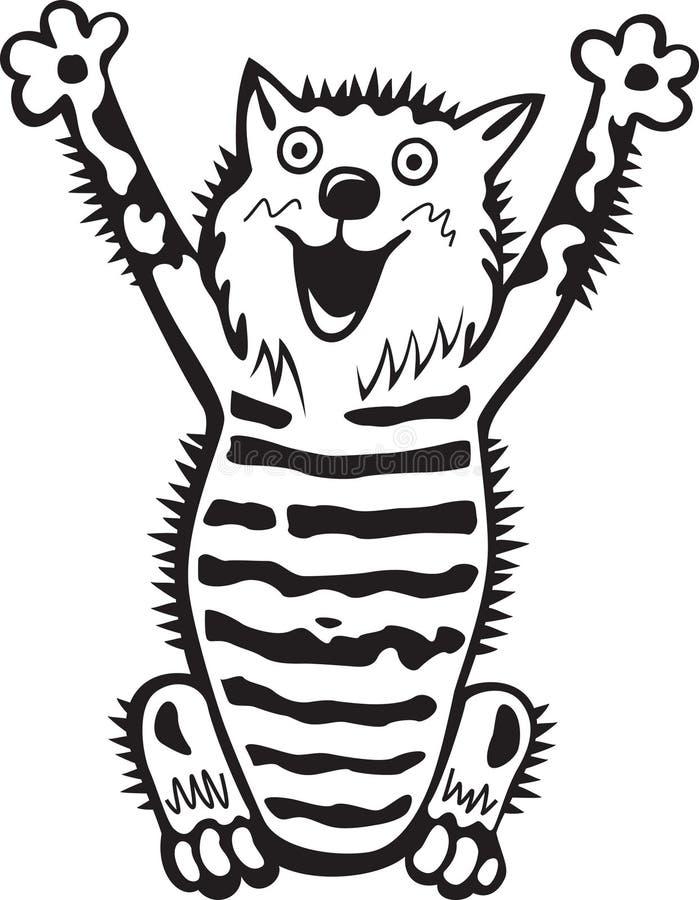 γάτα τρελλή διανυσματική απεικόνιση