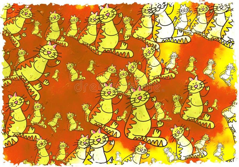 γάτα grunge ελεύθερη απεικόνιση δικαιώματος
