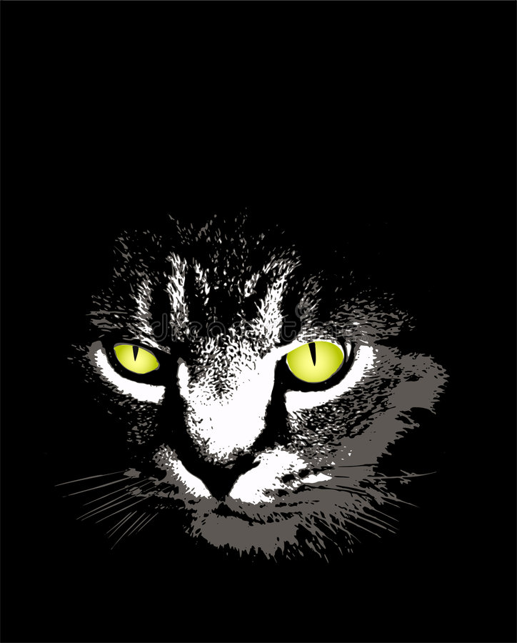 γάτα scary απεικόνιση αποθεμάτων