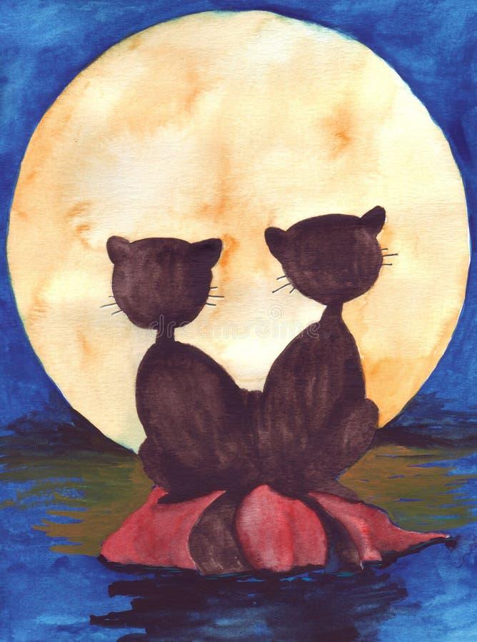 γάτες δύο απεικόνιση αποθεμάτων