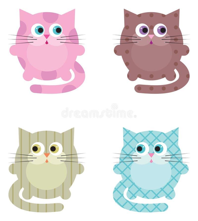 Γάτες κινούμενων σχεδίων απεικόνιση αποθεμάτων