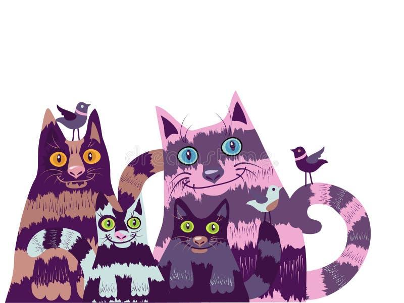 γάτες περίεργα ελεύθερη απεικόνιση δικαιώματος