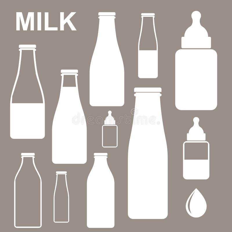 Γάλα. Μπουκάλι ελεύθερη απεικόνιση δικαιώματος