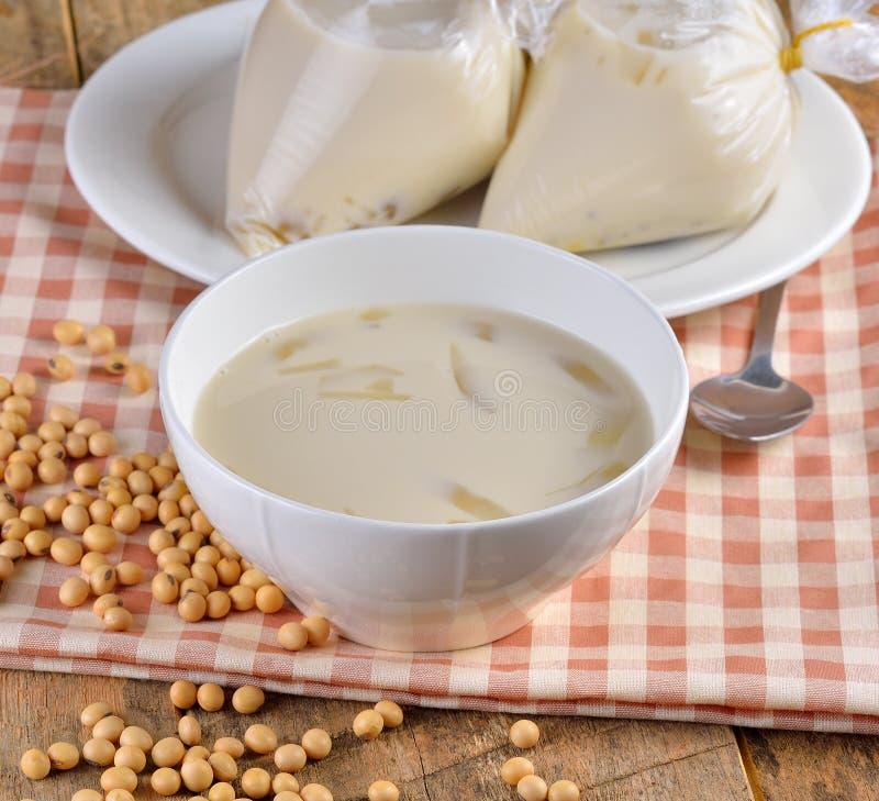 Γάλα σόγιας, γάλα σόγιας στοκ εικόνες