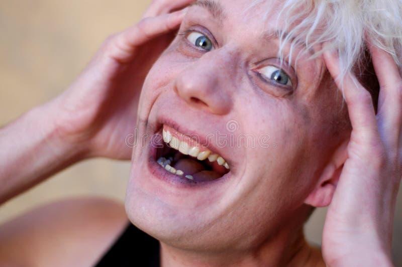 γέλιο τρελλό Στοκ Εικόνα