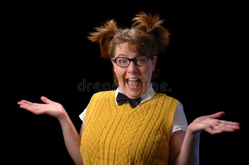 γέλιο nerd στοκ φωτογραφία με δικαίωμα ελεύθερης χρήσης