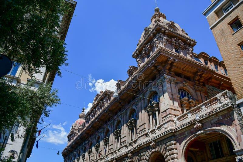 Γένοβα, Ιταλία Λεπτομέρεια Palazzo doria-Tursi στοκ φωτογραφία με δικαίωμα ελεύθερης χρήσης