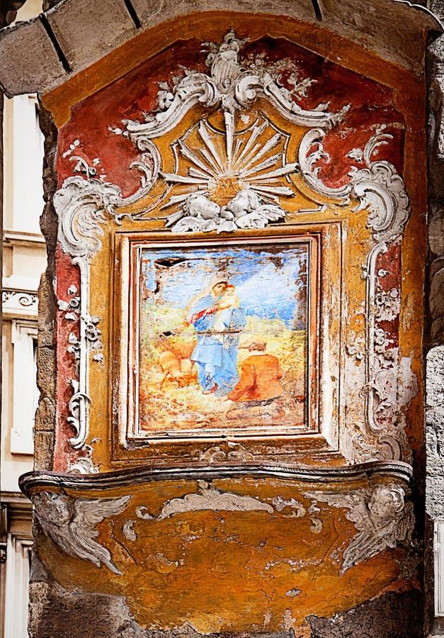 Γένοβα Ιταλία - παλαιό μικρό παρεκκλησι υπαίθριο στοκ εικόνα με δικαίωμα ελεύθερης χρήσης