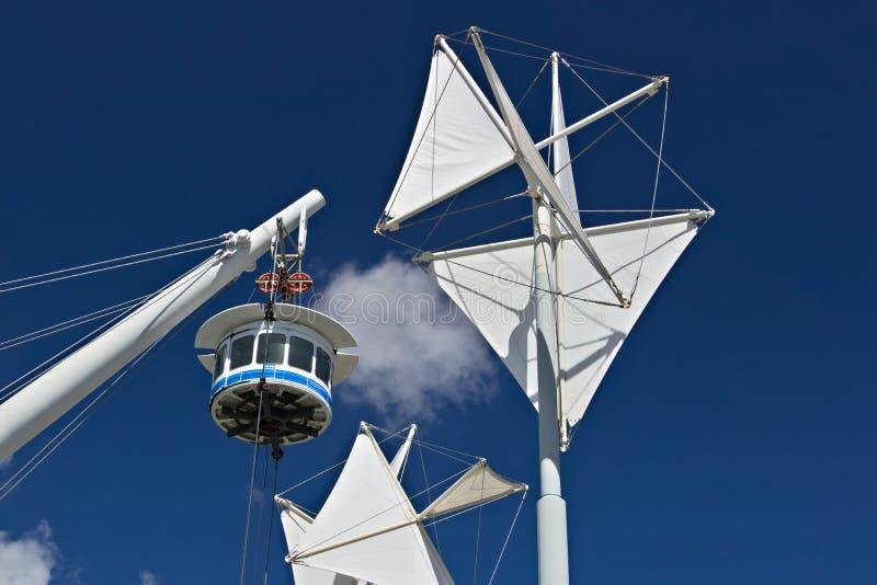 Γένοβα Το Bigo, πανοραμικός ανελκυστήρας στοκ εικόνες