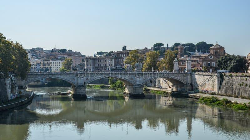 Γέφυρα ή γέφυρες Aelius Aelian στη Ρώμη, Ιταλία στοκ εικόνα