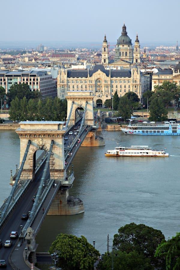 Γέφυρα αλυσίδων της Βουδαπέστης στοκ φωτογραφίες με δικαίωμα ελεύθερης χρήσης