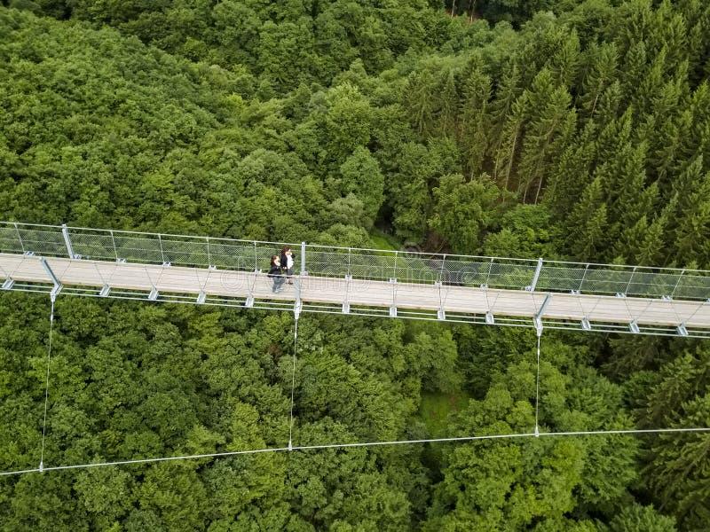Γέφυρα αναστολής Geierlay, Moersdorf, Γερμανία στοκ φωτογραφίες με δικαίωμα ελεύθερης χρήσης