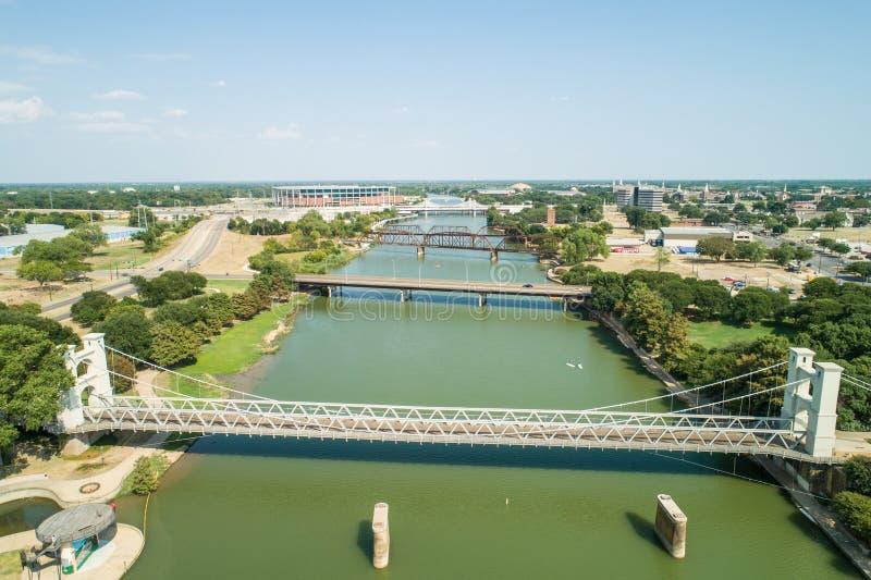 Γέφυρα αναστολής Waco στοκ φωτογραφίες με δικαίωμα ελεύθερης χρήσης
