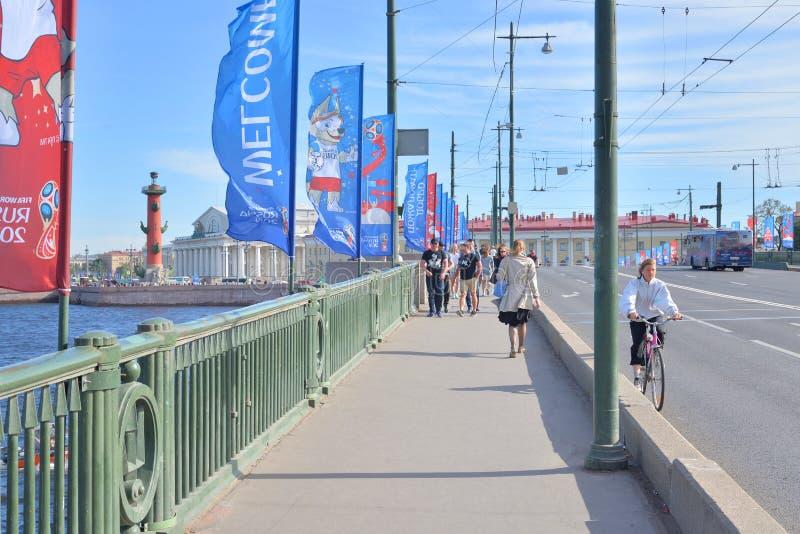 Γέφυρα ανταλλαγής στην Αγία Πετρούπολη στοκ φωτογραφία
