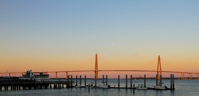γέφυρα αρθούρου jr ravenel Γέφυρα, Τσάρλεστον, Sc στοκ εικόνες με δικαίωμα ελεύθερης χρήσης