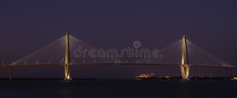 γέφυρα αρθούρου jr ravenel Γέφυρα, Τσάρλεστον, Sc στοκ φωτογραφία με δικαίωμα ελεύθερης χρήσης