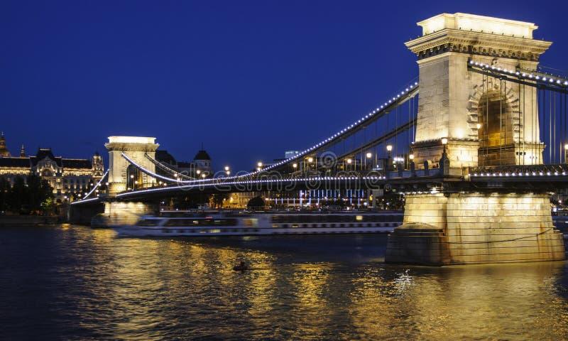 Γέφυρα αλυσίδων της Βουδαπέστης Ουγγαρία Ευρώπη στοκ φωτογραφίες