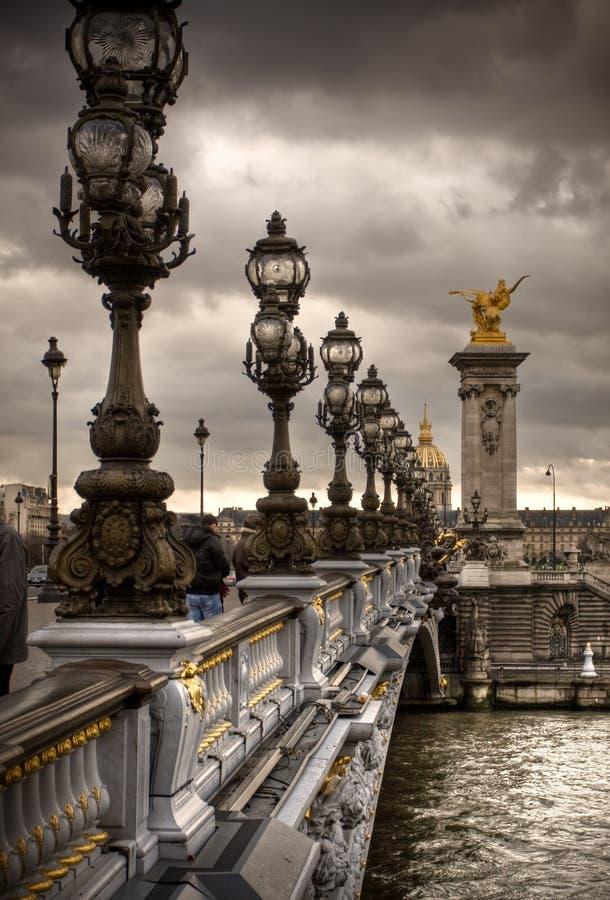 γέφυρα Γαλλία ΙΙΙ Alexandre Παρίσ&i στοκ εικόνα με δικαίωμα ελεύθερης χρήσης