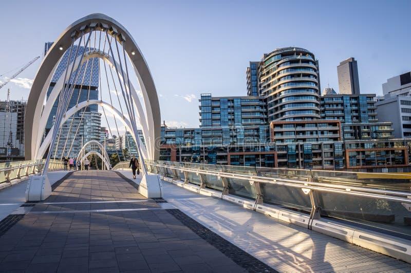 Γέφυρα για πεζούς ναυτικών στη Μελβούρνη, Βικτώρια, Αυστραλία στοκ φωτογραφία με δικαίωμα ελεύθερης χρήσης