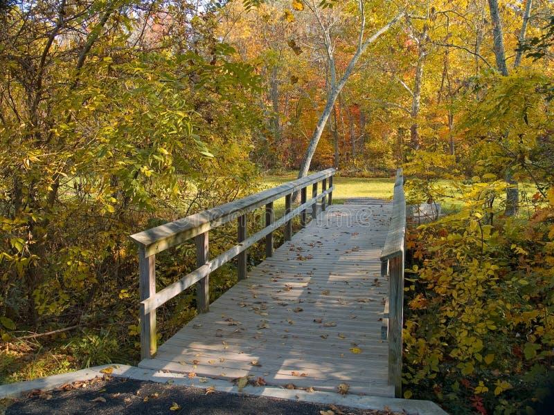 γέφυρα για πεζούς φθινοπώρου στοκ εικόνες με δικαίωμα ελεύθερης χρήσης